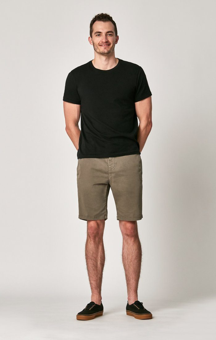 MATTEO SHORTS IN DUSTY OLIVE SATEEN TWILL Image 6
