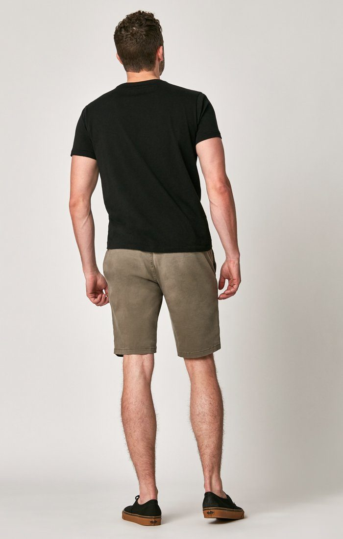 MATTEO SHORTS IN DUSTY OLIVE SATEEN TWILL Image 3