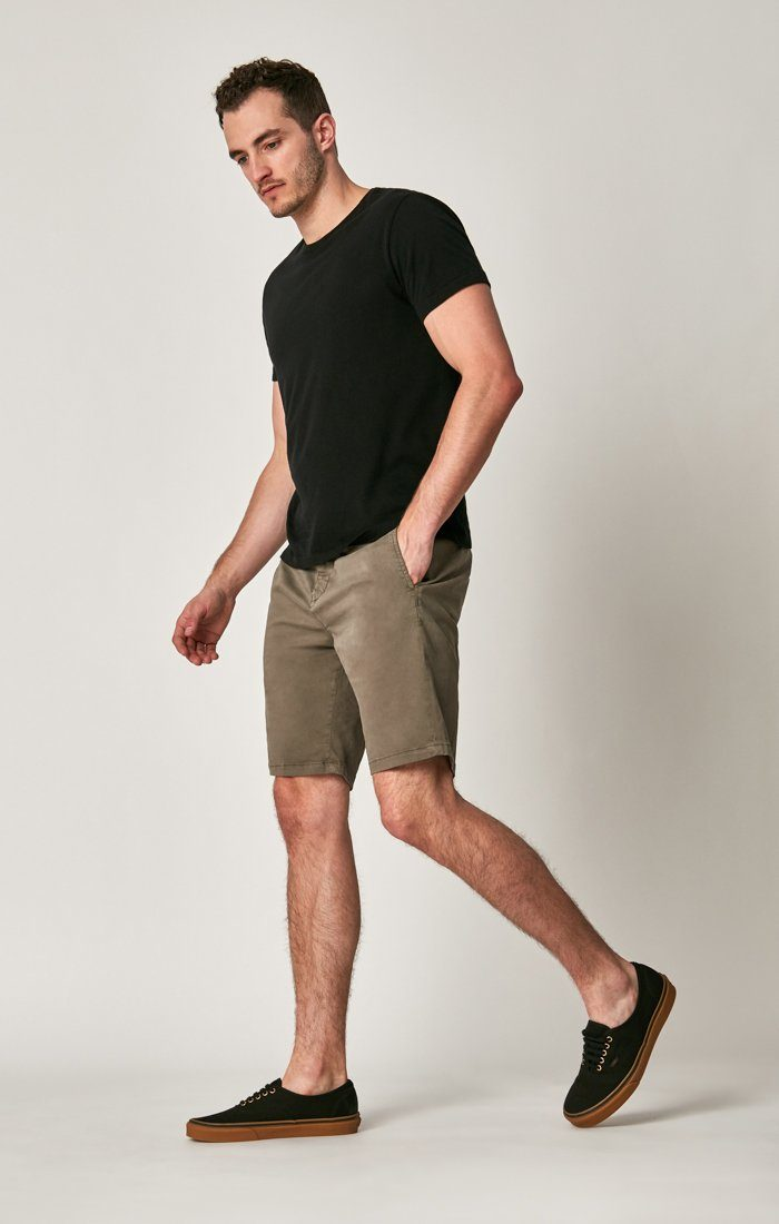 MATTEO SHORTS IN DUSTY OLIVE SATEEN TWILL Image 8