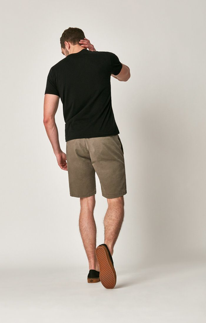 MATTEO SHORTS IN DUSTY OLIVE SATEEN TWILL Image 7