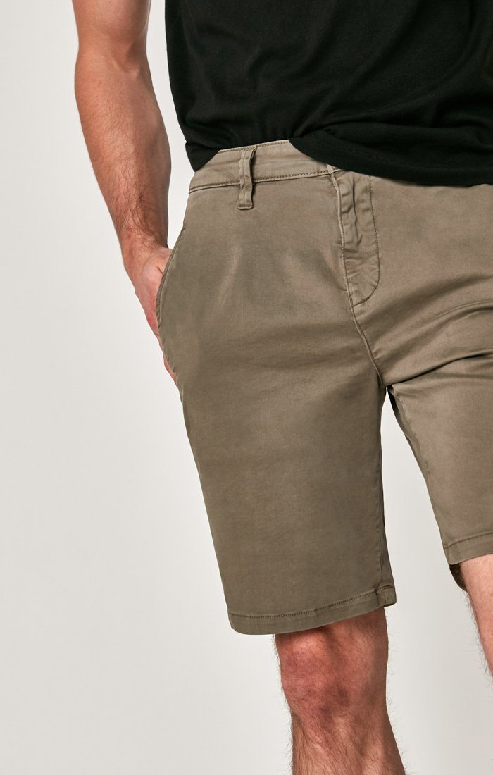 MATTEO SHORTS IN DUSTY OLIVE SATEEN TWILL Image 5