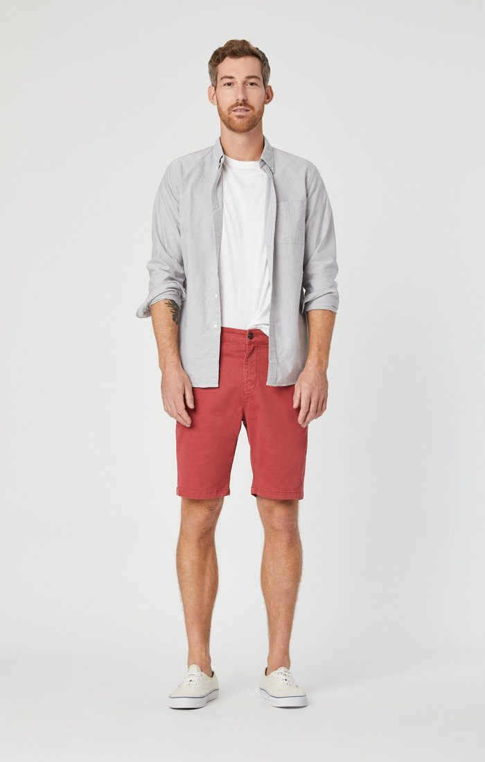 JACOB SHORTS IN BRICK SATEEN Image 8