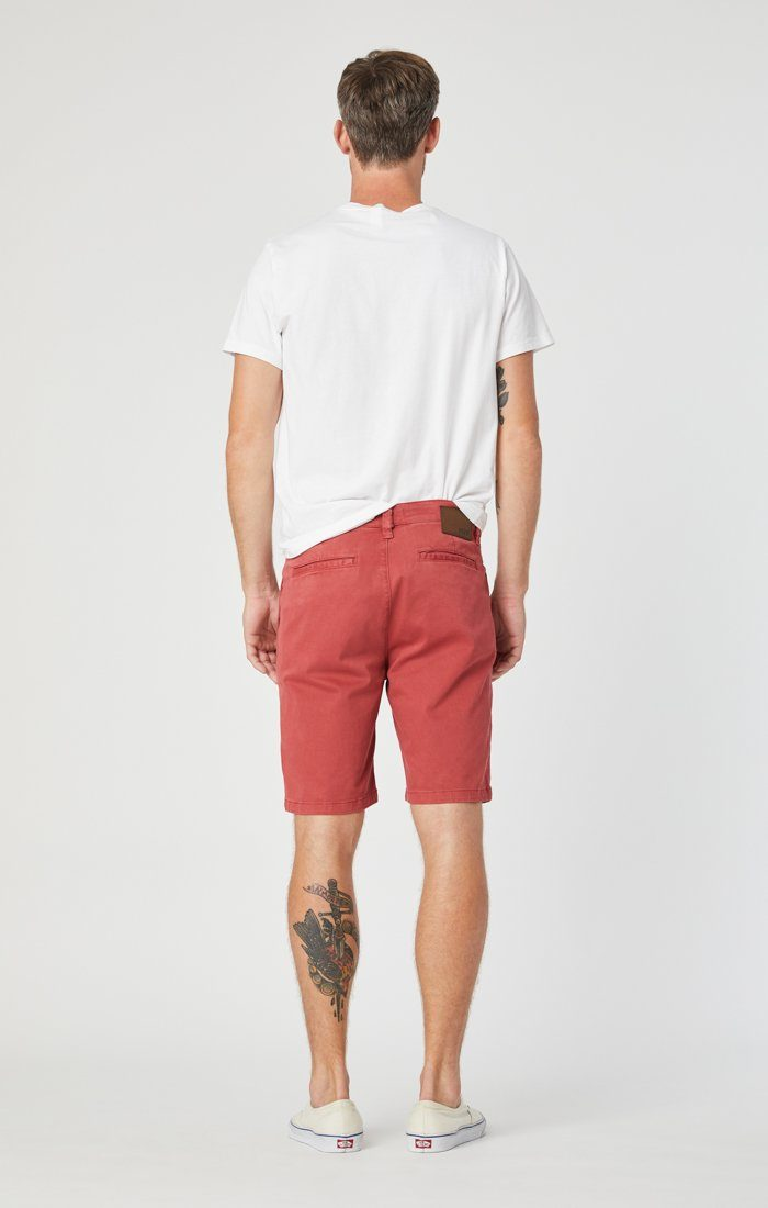 JACOB SHORTS IN BRICK SATEEN Image 5