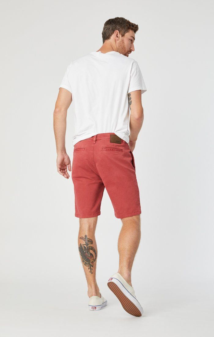 JACOB SHORTS IN BRICK SATEEN Image 6