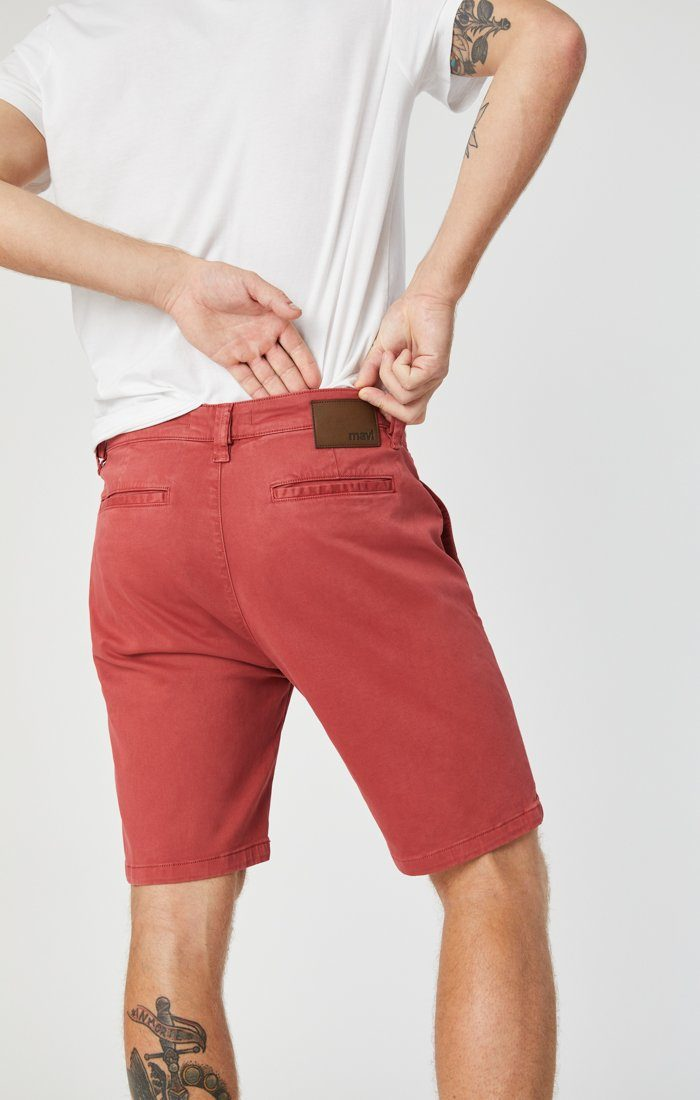 JACOB SHORTS IN BRICK SATEEN Image 7