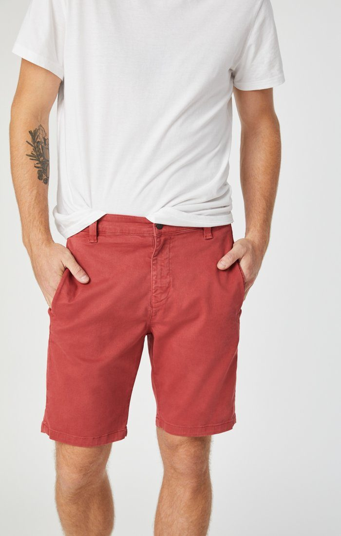 JACOB SHORTS IN BRICK SATEEN Image 4