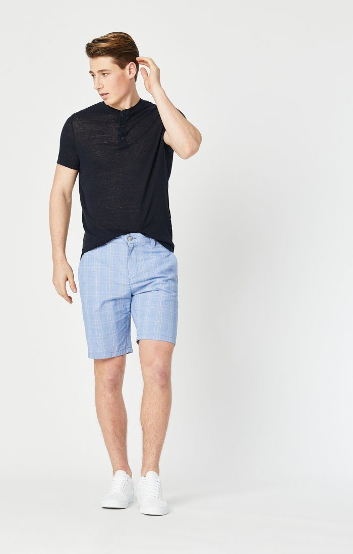 Mavi Men's Matteo Short In Blue Checked Seersucker