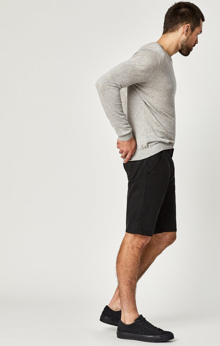JACOB SHORTS IN BLACK SATEEN TWILL Image 2