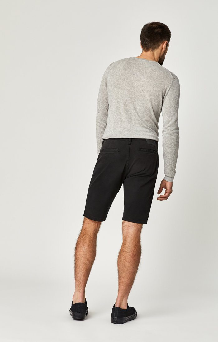 JACOB SHORTS IN BLACK SATEEN TWILL Image 3