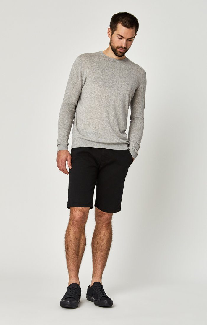 Mavi Men's Jacob Shorts In Black Sateen Twill