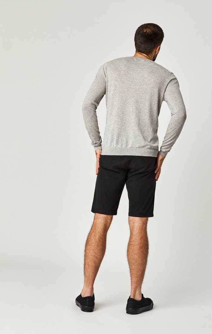 JACOB SHORTS IN BLACK SATEEN TWILL Image 5
