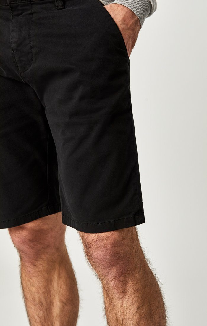 JACOB SHORTS IN BLACK SATEEN TWILL Image 8