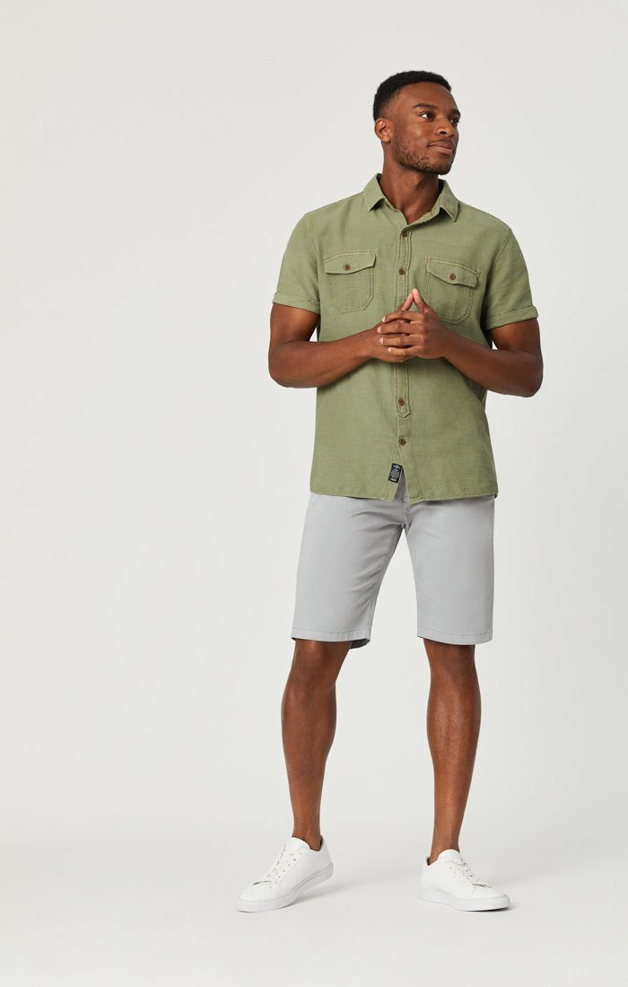 JACOB SHORTS IN QUARRY SUMMER TWILL Image 3