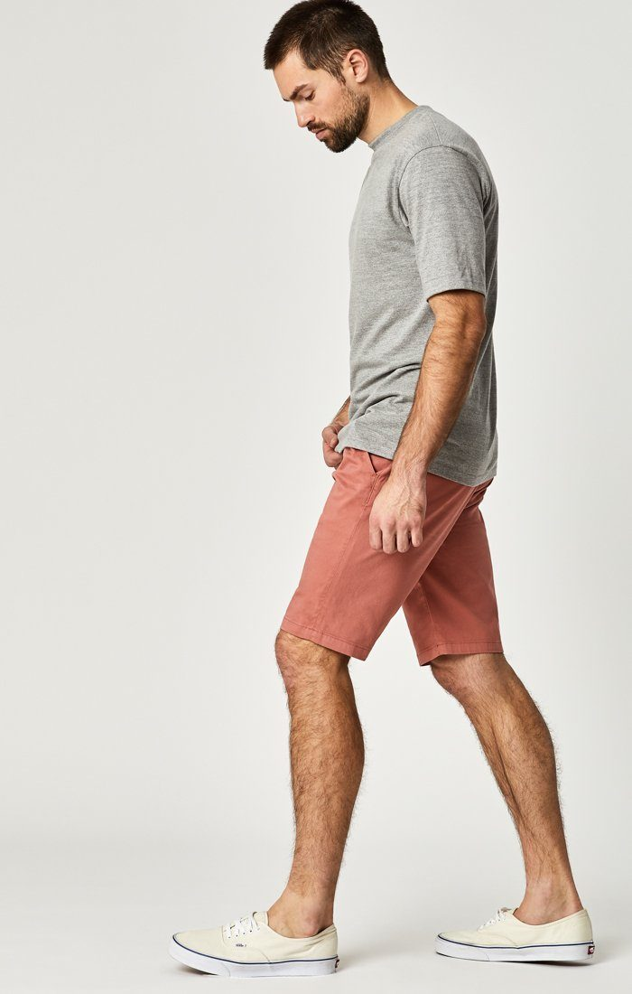JACOB SHORTS IN BRICK DUST SUMMER TWILL Image 2