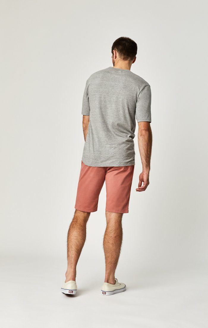 JACOB SHORTS IN BRICK DUST SUMMER TWILL Image 3