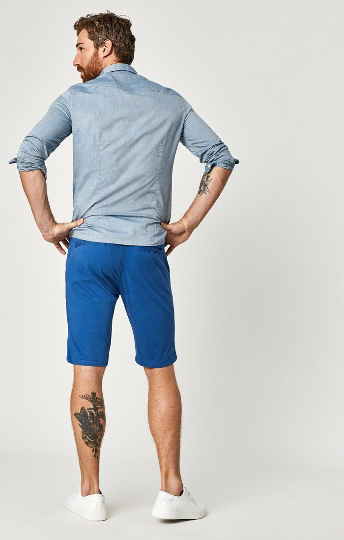 JACOB SHORTS IN BRIGHT COBALT SATEEN TWILL Image 5