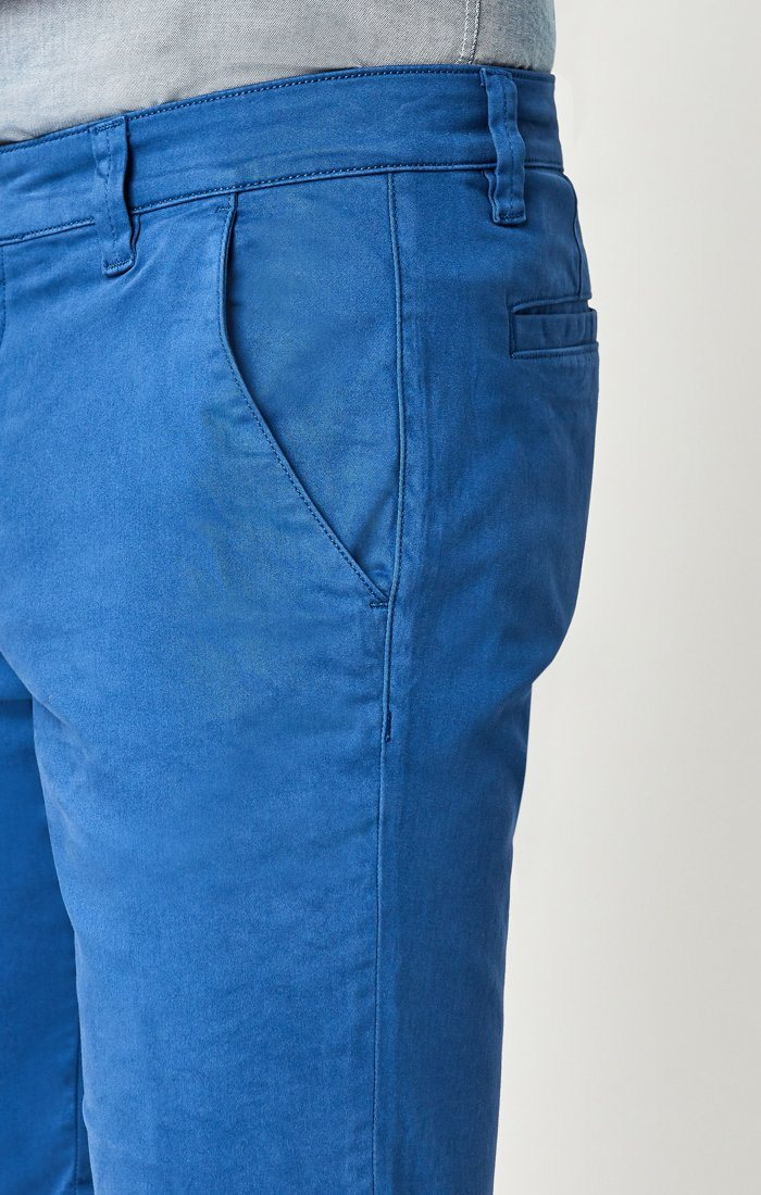 JACOB SHORTS IN BRIGHT COBALT SATEEN TWILL Image 6