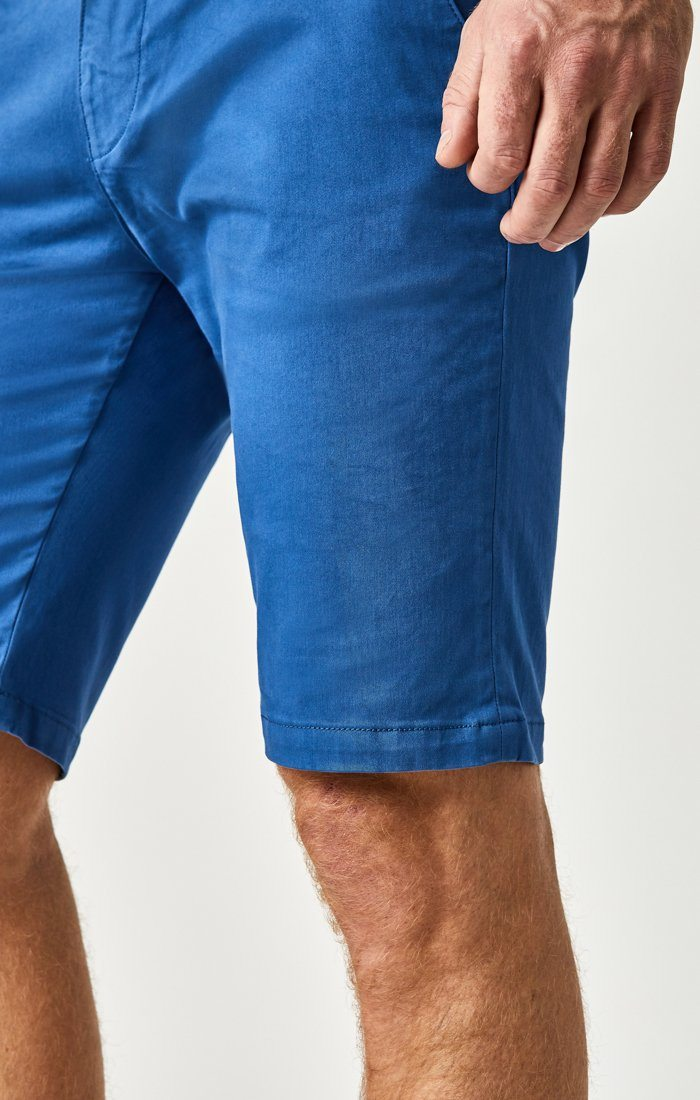 JACOB SHORTS IN BRIGHT COBALT SATEEN TWILL Image 4