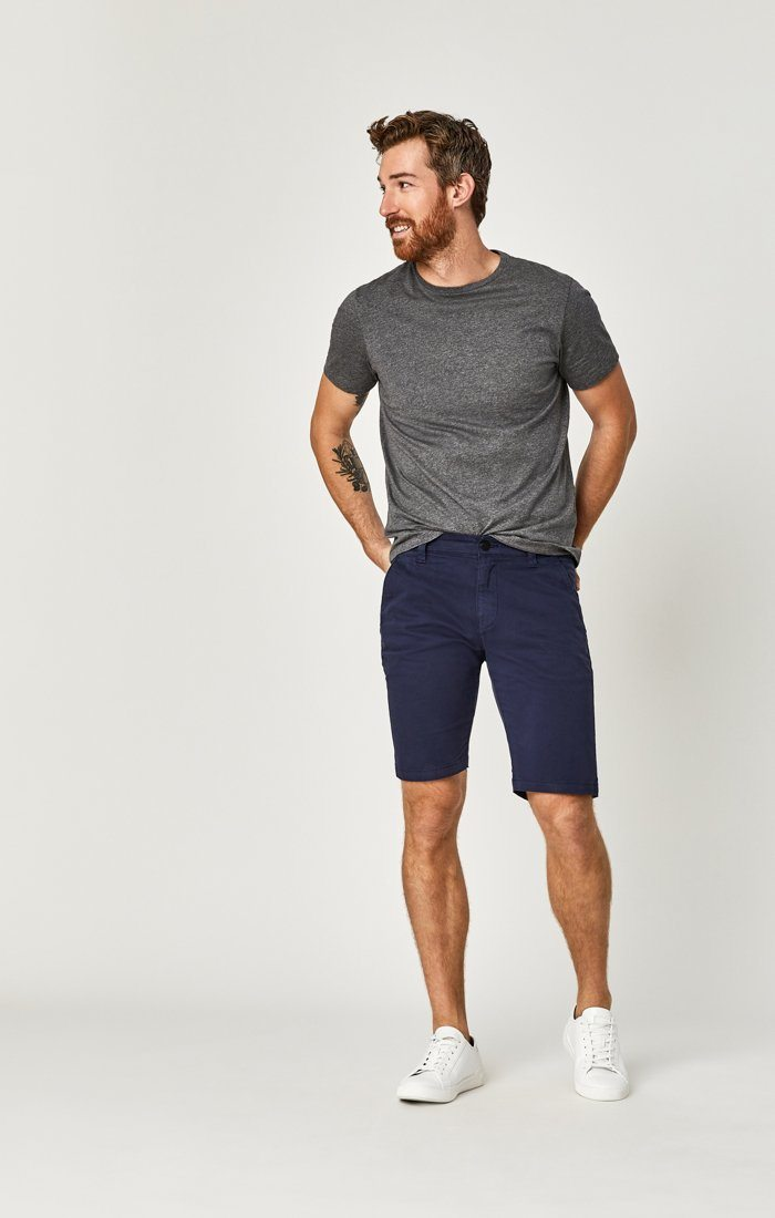 JACOB SHORTS IN DARK NAVY SATEEN TWILL Image 7