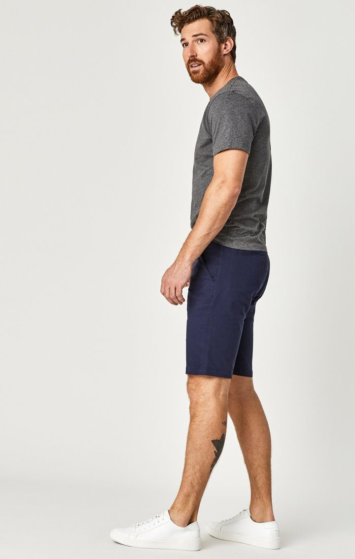 JACOB SHORTS IN DARK NAVY SATEEN TWILL - Mavi Jeans