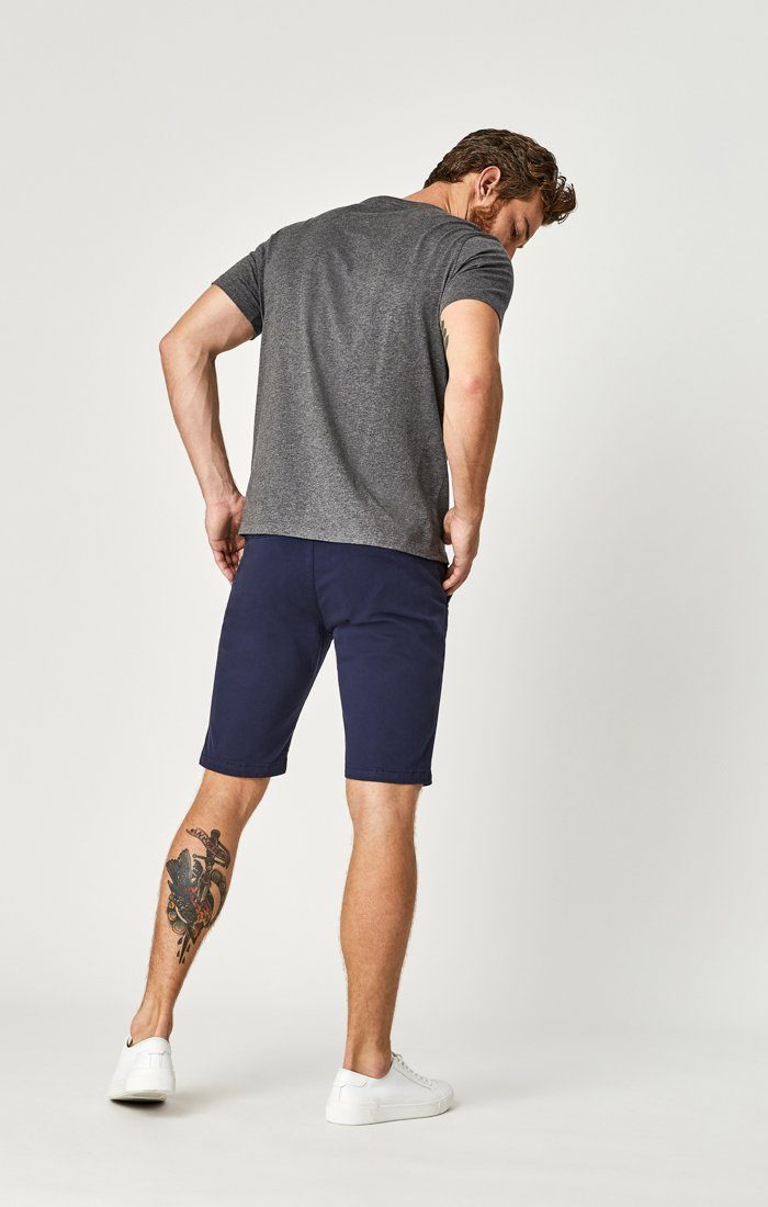 JACOB SHORTS IN DARK NAVY SATEEN TWILL Image 3