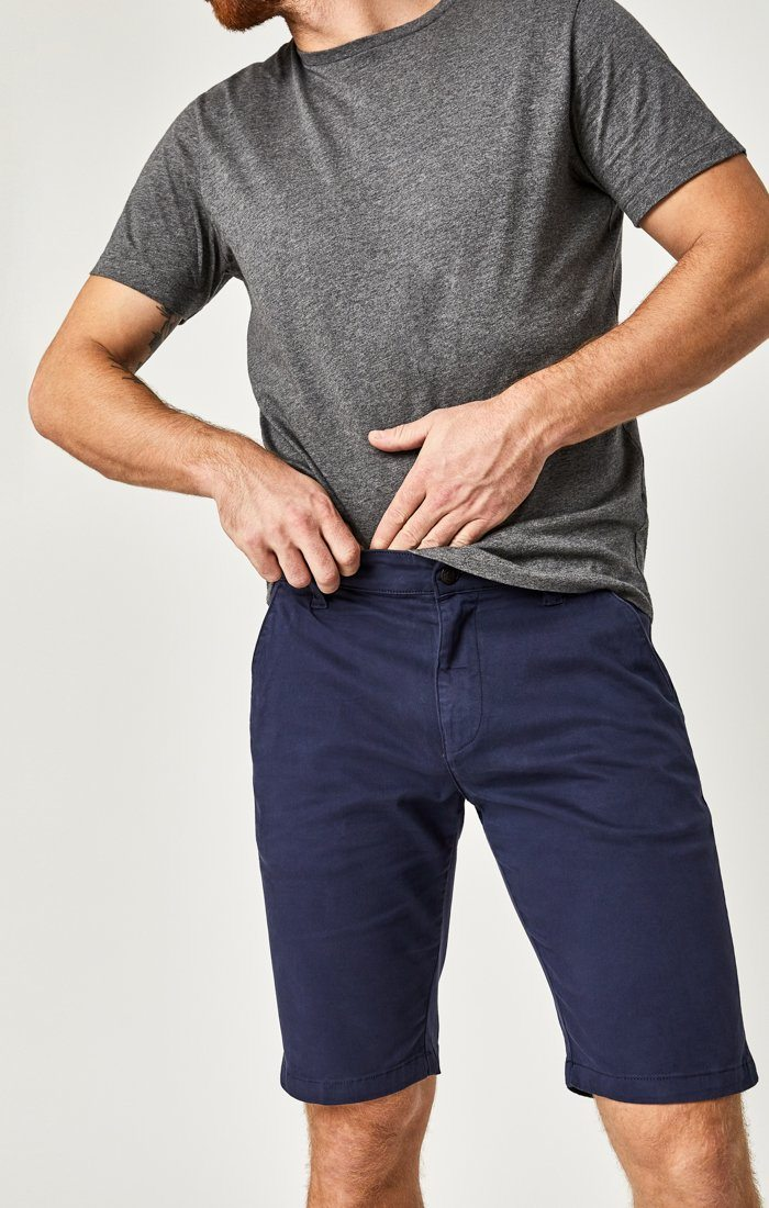 JACOB SHORTS IN DARK NAVY SATEEN TWILL Image 2