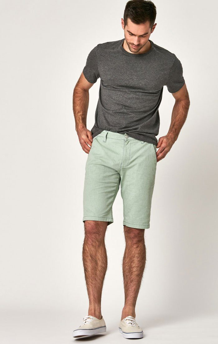 Mavi Men's Jacob Shorts In Green Dot Fancy Twill