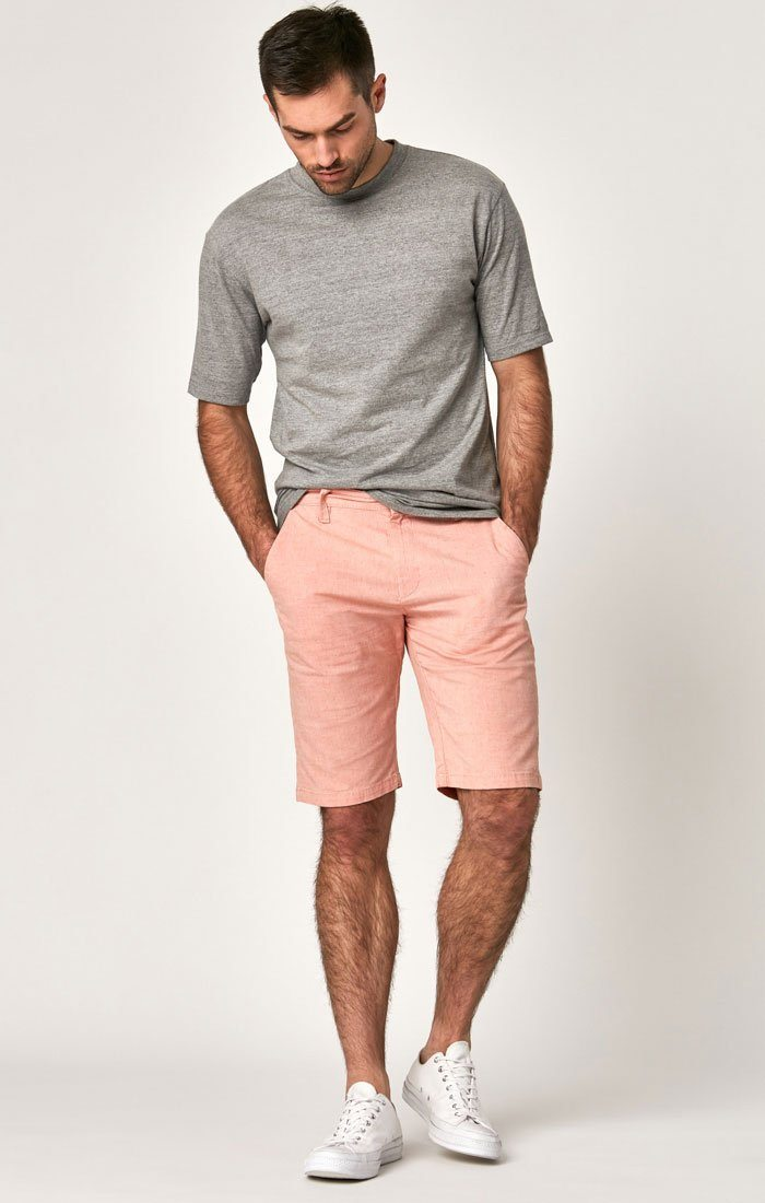 Mavi Men's Jacob Shorts In Red Dot Fancy Twill