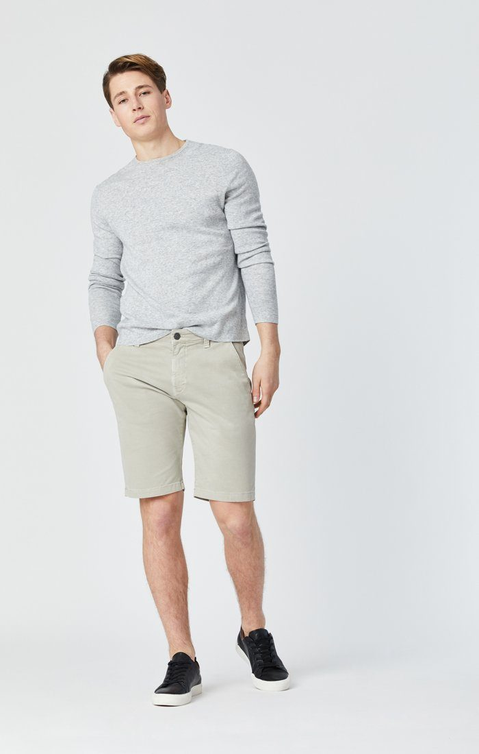 Mavi Men's Jacob Shorts In Stone Grey Sateen Twill