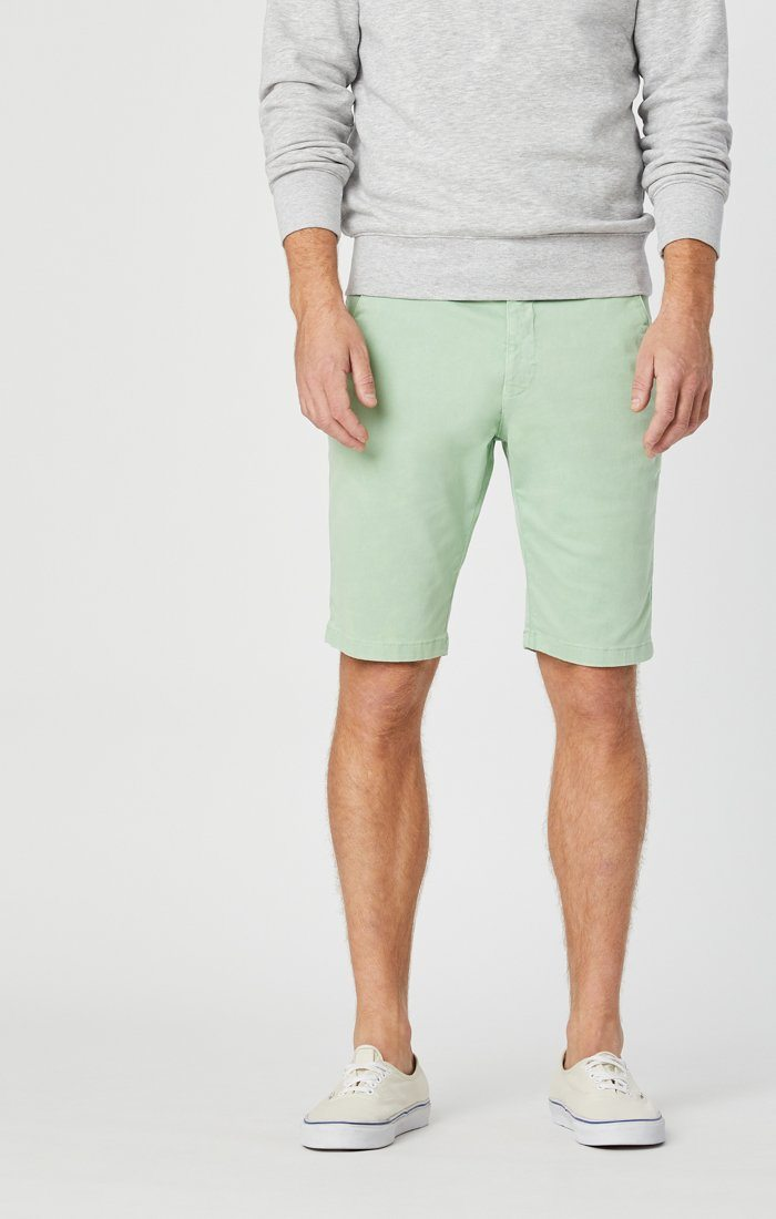 JACOB SHORTS IN MINT SATEEN Image 1