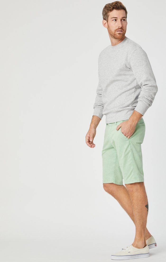 JACOB SHORTS IN MINT SATEEN Image 3