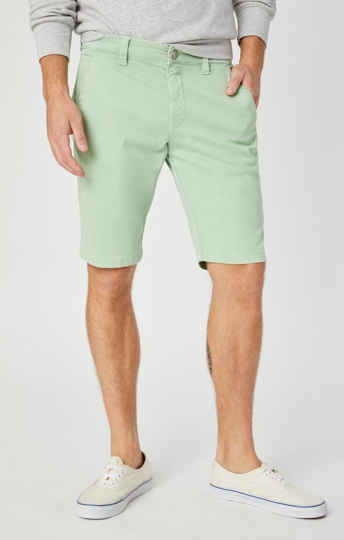 JACOB SHORTS IN MINT SATEEN Image 6