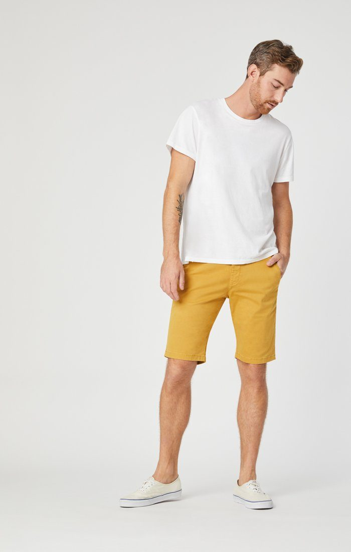 Mavi Men's Jacob Shorts In Mustard Sateen Twill