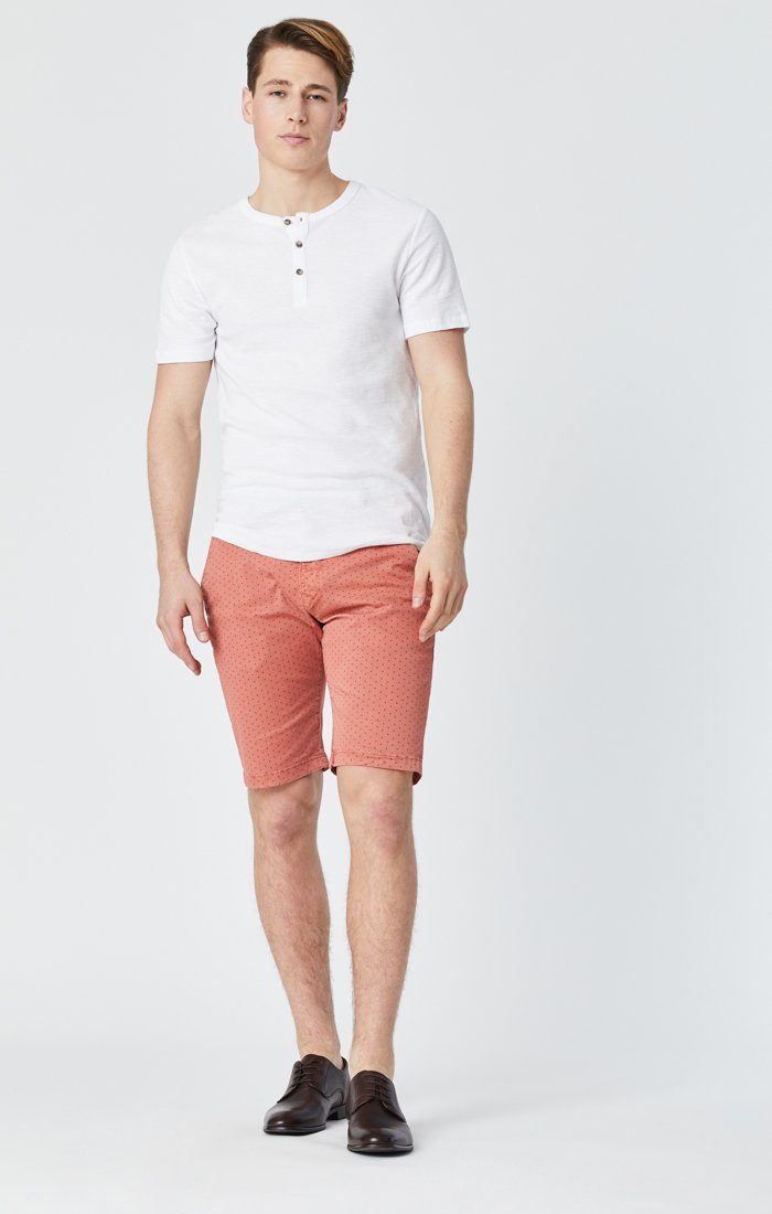 Mavi Men's Jacob Shorts In Brick Fancy