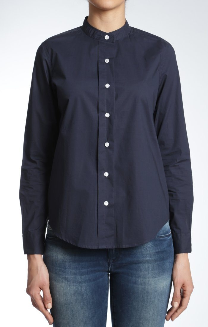 CHLOE ROUND COLLAR SHIRT IN INK