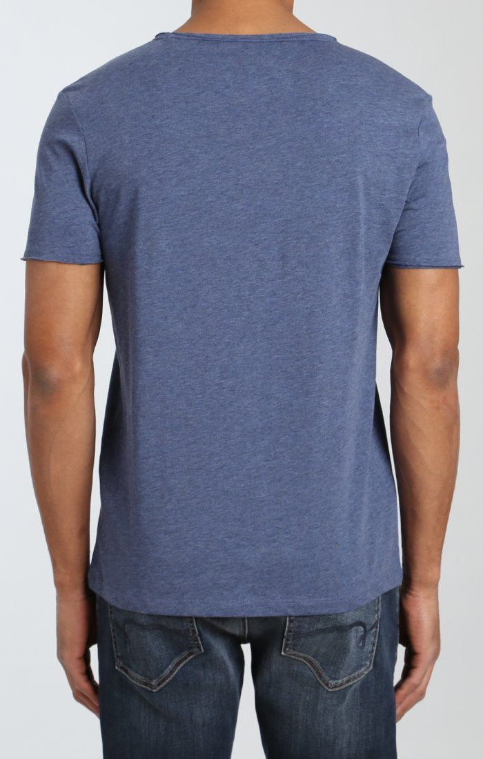 BASIC V-NECK TEE IN INDIGO - Mavi Jeans