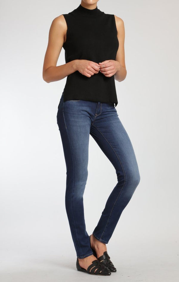 ADRIANA SUPER SKINNY IN INDIGO GOLD FEATHER - Mavi Jeans