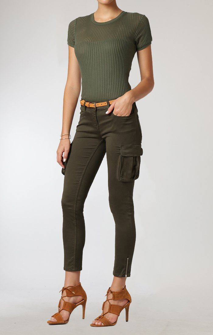 JULIETTE SKINNY CARGO IN MILITARY SATEEN