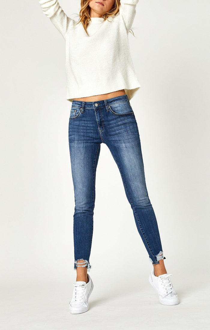 TESS SUPER SKINNY IN SHADED DESTRUCTED VINTAGE - Mavi Jeans