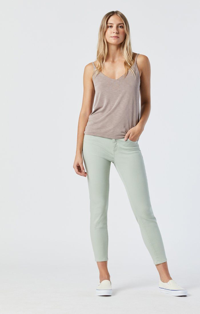 TESS SKINNY IN SILT GREEN SUPERSOFT Image 2