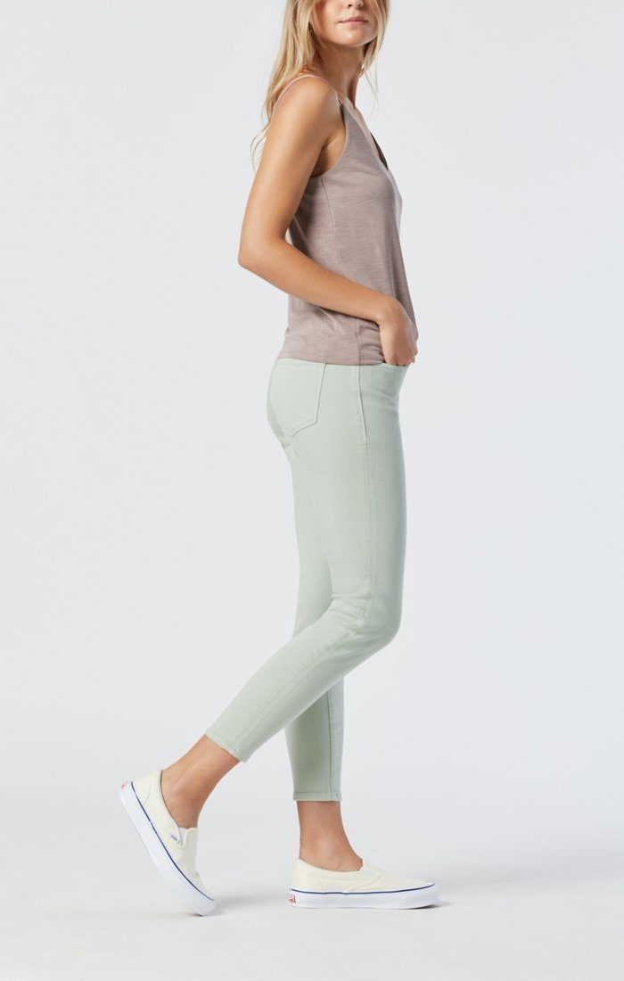 TESS SKINNY IN SILT GREEN SUPERSOFT Image 1