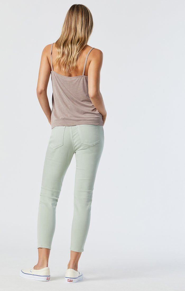 TESS SKINNY IN SILT GREEN SUPERSOFT Image 4