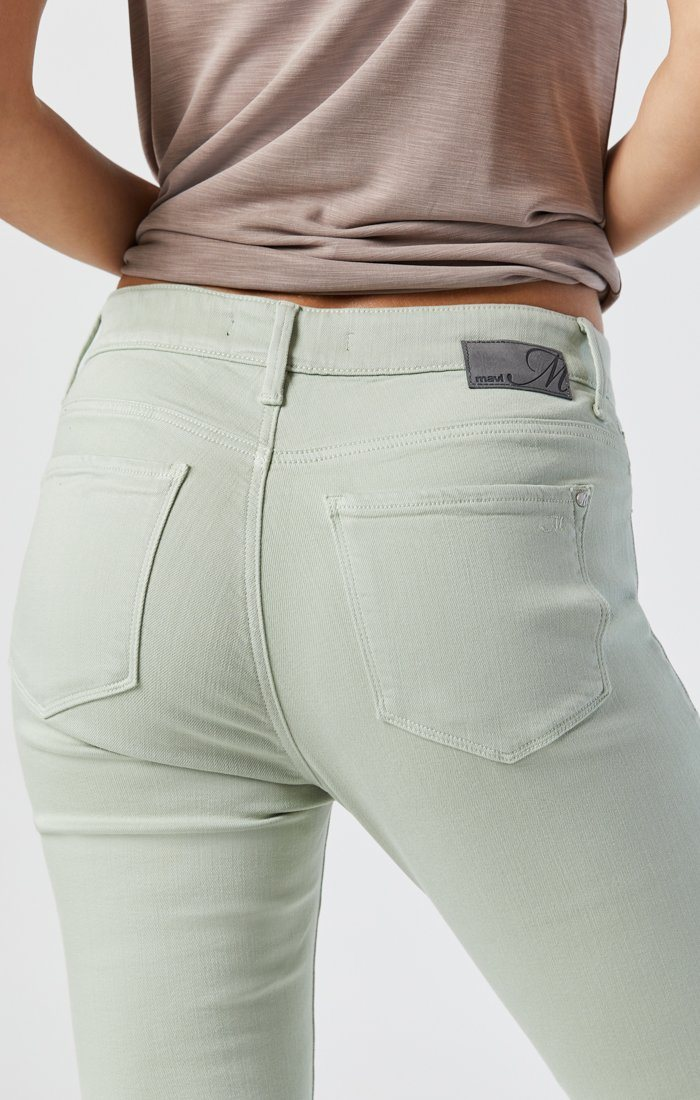 TESS SKINNY IN SILT GREEN SUPERSOFT Image 5