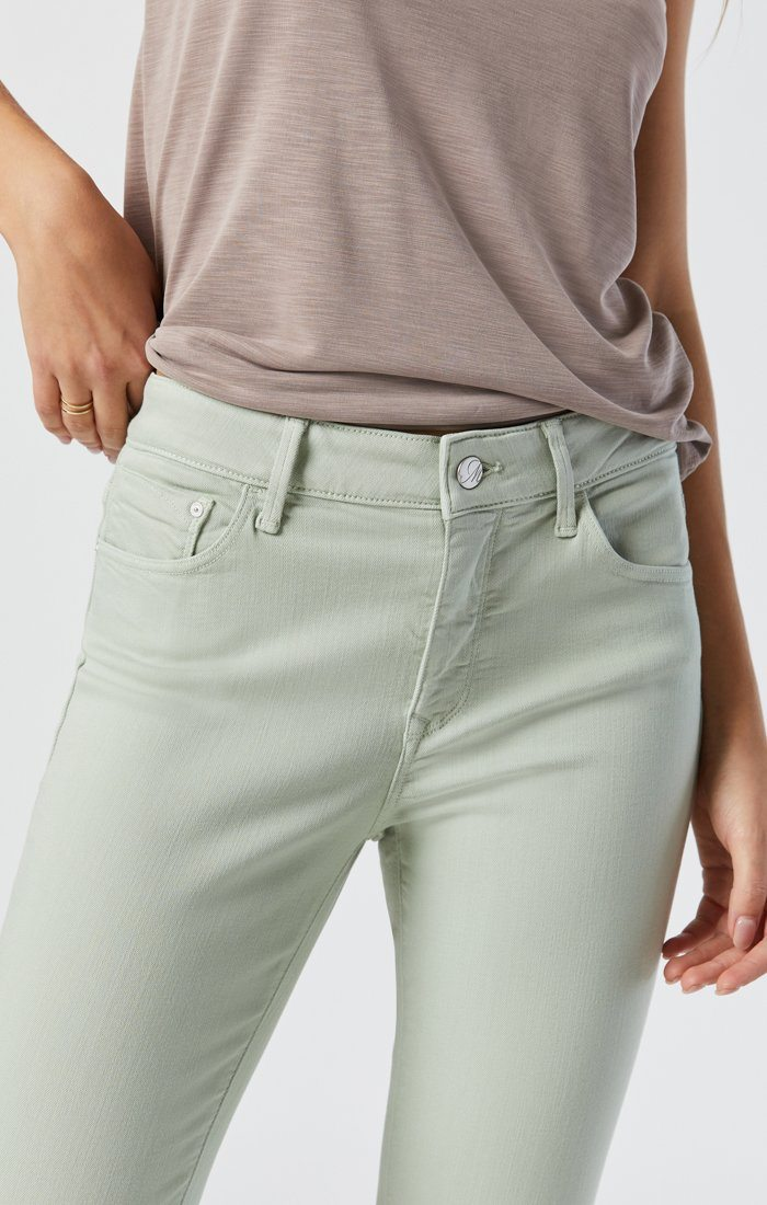 TESS SKINNY IN SILT GREEN SUPERSOFT Image 3