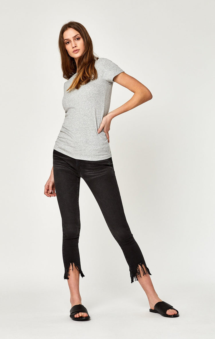 TESS SUPER SKINNY IN SMOKE FRINGE