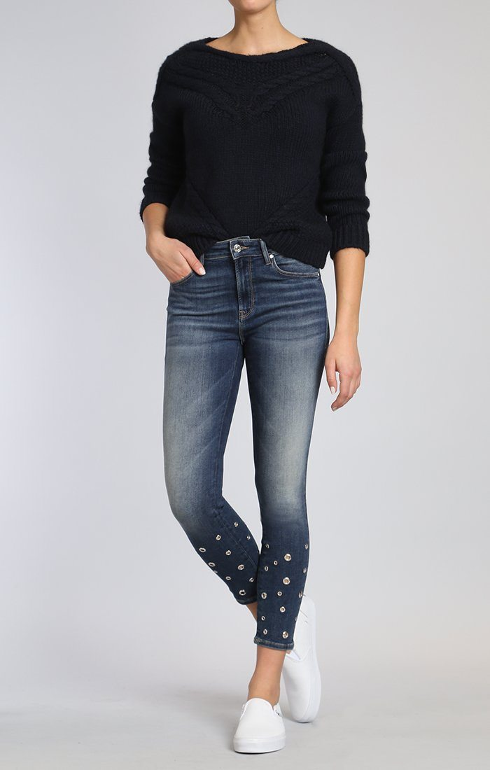 TESS SUPER SKINNY IN SHADED EYELET