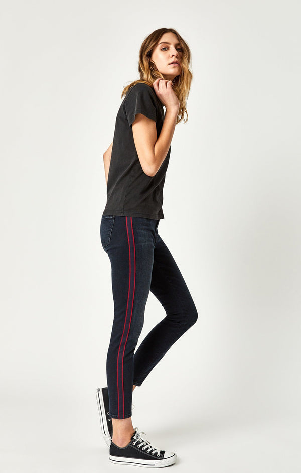 TESS SUPER SKINNY IN INK STRIPE - Mavi Jeans