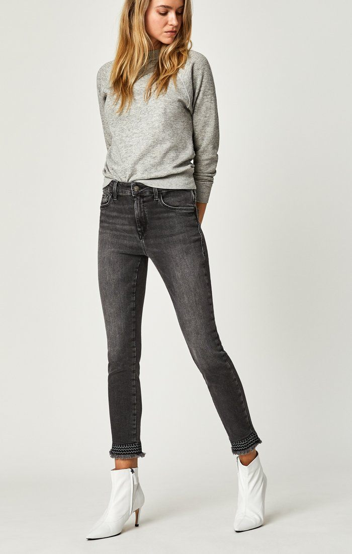 TESS SUPER SKINNY IN SMOKE EMBROIDERY - Mavi Jeans