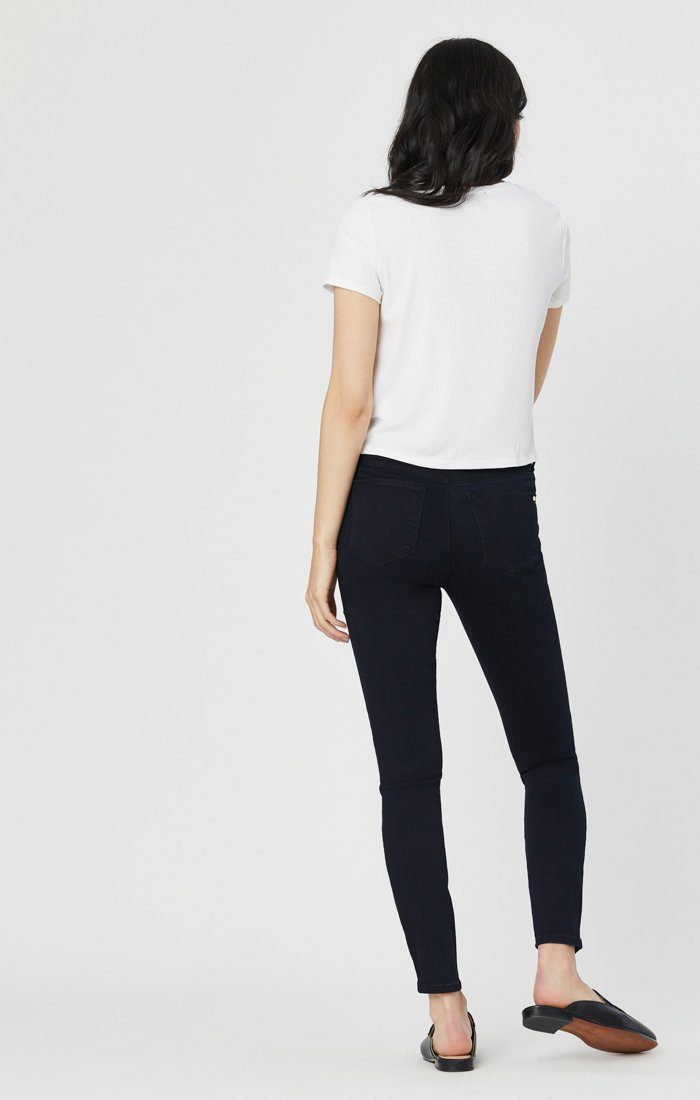 TESS SUPER SKINNY JEANS IN RINSE GOLDEN GOLD Image 7