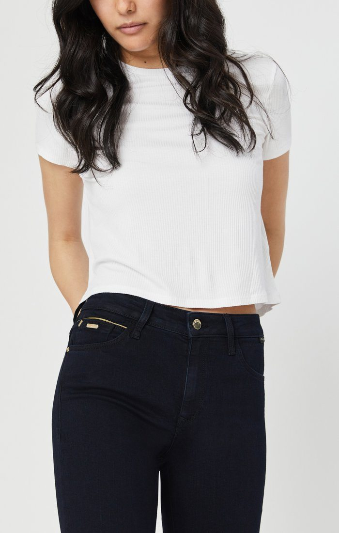 TESS SUPER SKINNY JEANS IN RINSE GOLDEN GOLD Image 3